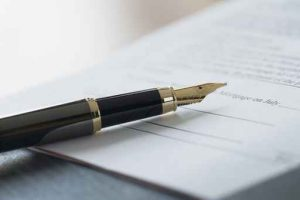 Fountain Pen on Mortgage Contract
